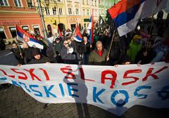 """Wrocław: Manifestacja """"Serbskie Kosowo - Polski Śląsk"""""""