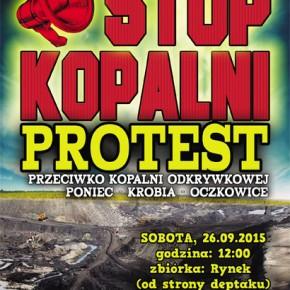 """Gostyń: Protest """"Stop kopalni"""" - 26/09/2015"""