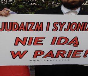Ortodoksyjni Żydzi protestowali w obronie Polski