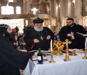 Pierwsza msza po wyzwoleniu Dajr az-Zaur
