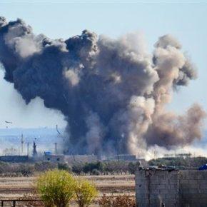 """""""Międzynarodowa koalicja"""" znów atakuje w Syrii"""