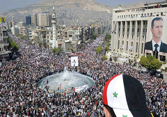 Syria: demonstracje poparcia dla prezydenta Baszara al-Assada