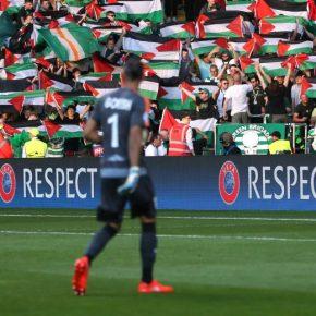 Kibice Celticu Glasgow użyli palestyńskich flag mimo zakazu UEFA