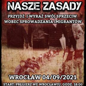 Wrocław przeciwko imigracji - zaproszenie (04/09/2021)