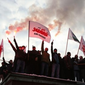 Górnicy protestowali w Warszawie